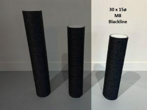 Sisalpaal 30x15Ø M8  BLACKLINE