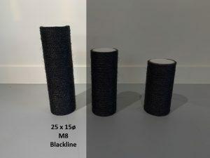 Sisalpaal 25x15Ø M8  BLACKLINE