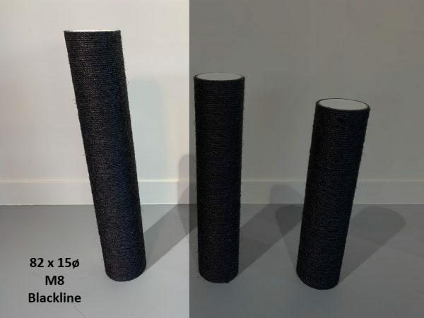 Sisalpaal 82x15Ø M8  BLACKLINE