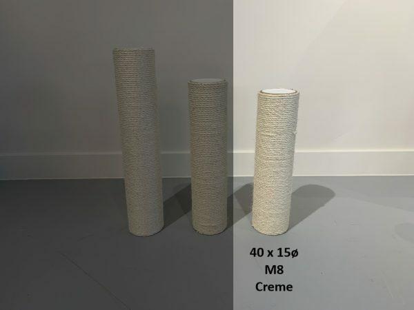 Krabpaal onderdelen Sisalpaal 40x15 M8