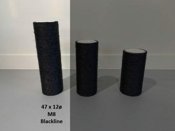 Sisalpaal 47x12Ø M8  BLACKLINE