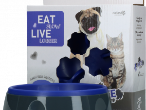 Eat Slow Live Longer Amaze Flower Blue S