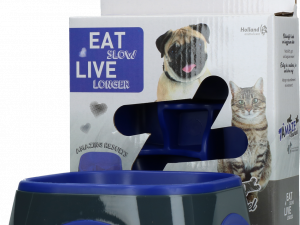 Eat Slow Live Longer Amaze Pinwheel Blue S