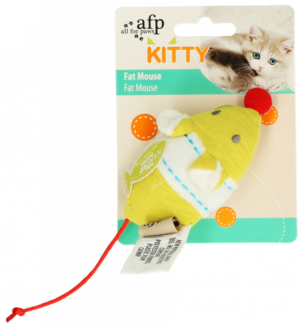 AFP Kitty Fat Mouse Yellow