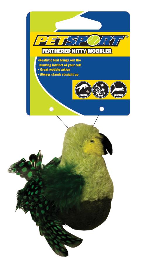 Feathered Kitty Wobbler groen