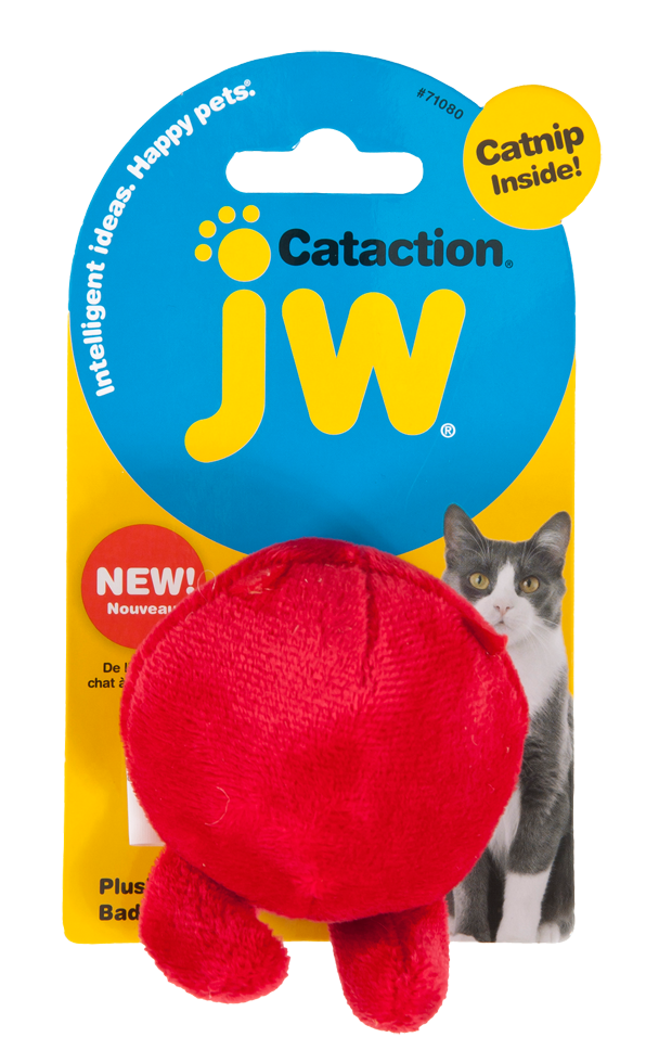 JW Plush Bad Cuz Ball with Catnip