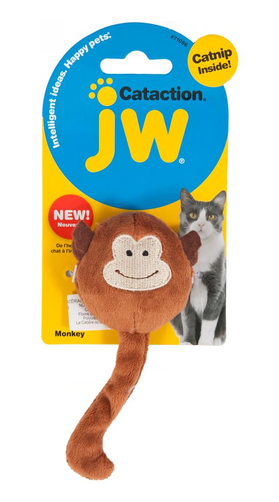 JW Plush Catnip Monkey