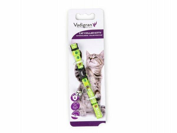 Halsband kat Kitty Cat groen 16-25cmx8mm