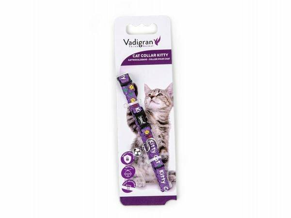 Halsband kat Kitty Cat paars 16-25cmx8mm