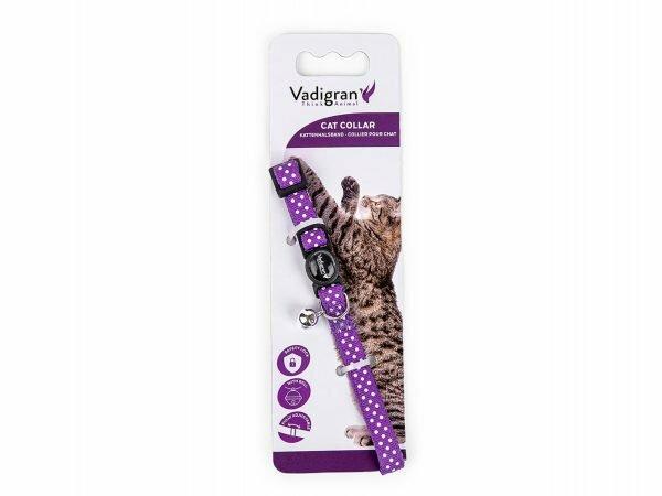 Halsband kat Stippen paars 20-30cmx10mm