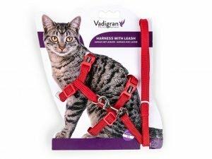 Harnas + Leiband kat Nylon Classic rood