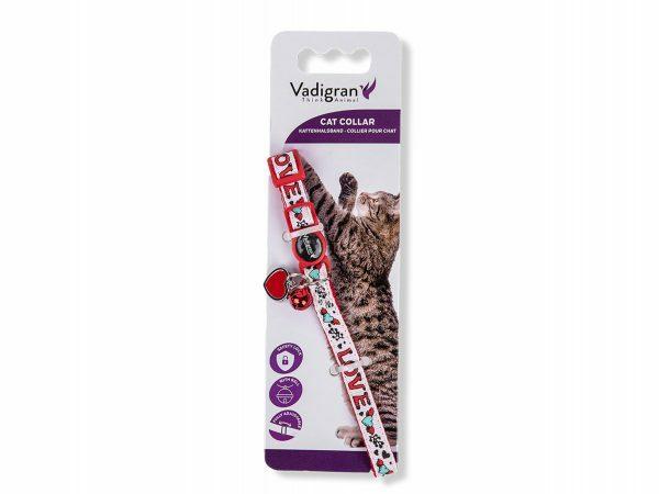 Halsband kat Charm wit 20-30cmx10mm
