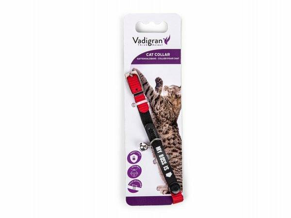 Halsband kat My Boss rood 30cmx10mm