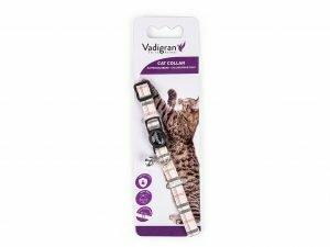 Halsband kat Schotse Ruit beige 20-30cmx10mm
