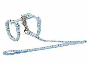 HR+LB kat Schotse Ruit blauw 30-35cmx10mm+120cm