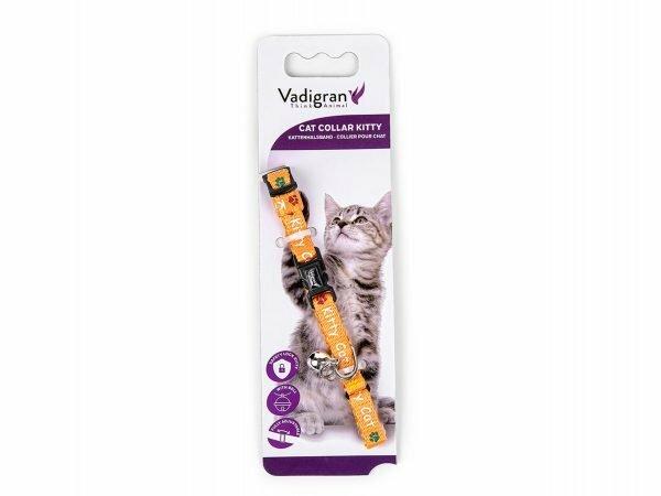 Halsband kat Kitty Cat oranje 16-25cmx8mm