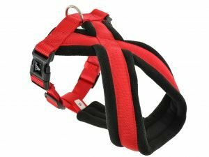 Harnas Comfort Nylon rood 40cm M