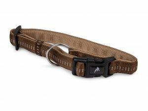Halsband nylon Soft Grip bruin 50-65cmx25mm XL