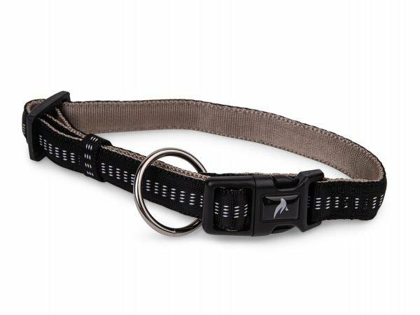 Halsband nylon Soft Grip zwart 25-35cmx15mm S-M