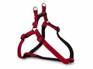 Harnas nylon Soft Grip rood 60-86cmx25mm XL