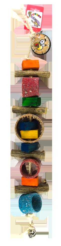 Birrdeeez Jungle Rings Parrot Toy