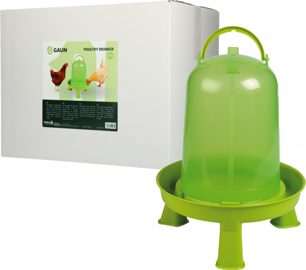Pluimvee drinktoren 10 l green lemon op pootjes