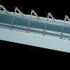 Pluimvee voertrog 50 cm gegalv. metaal