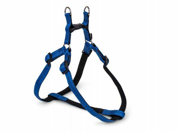 Harnas nylon Soft Grip blauw 60-86cmx25mm XL