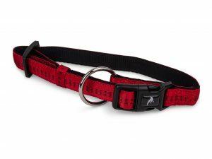 Halsband nylon Soft Grip rood 50-65cmx25mm XL