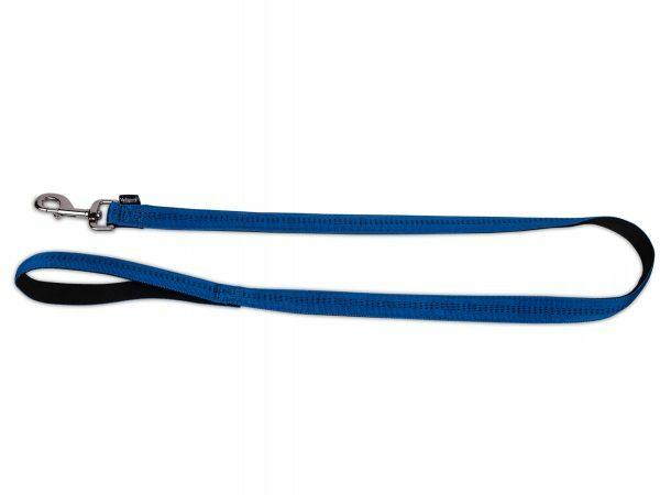 Leiband nylon Soft Grip blauw 120cmx20mm L