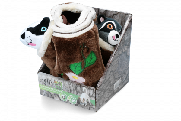 AFP Dig it - Tree Trunk Burrow - M with 2 cute toys