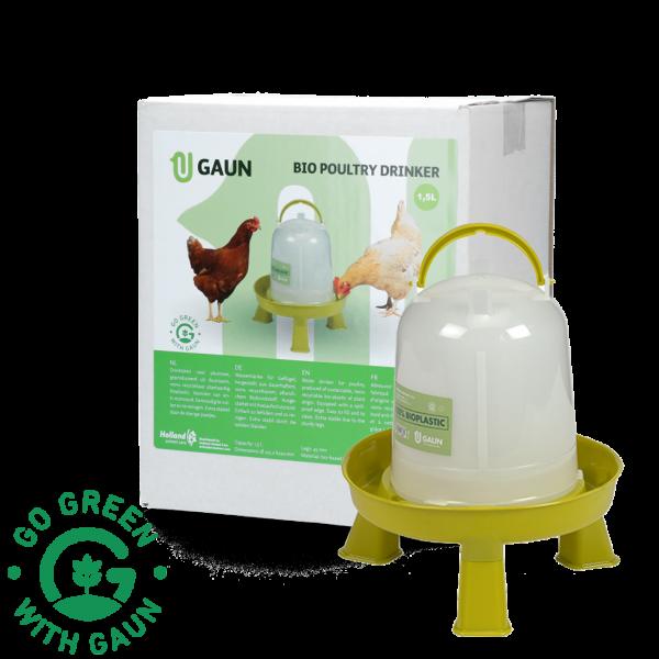 Pluimvee drinktoren 1,5 l Bio green lemon op pootjes
