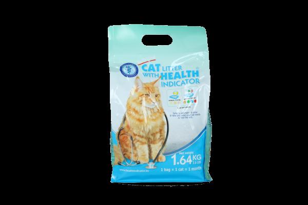 Cat litter met gezondheidsindicator