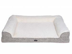 Sofa bed Alys beige/wit 110x90x22cm