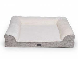Sofa bed Alys beige/wit 90x75x20cm
