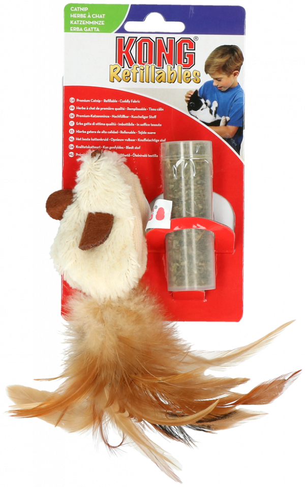 KONG Cat Refillable Catnip Feather Mouse