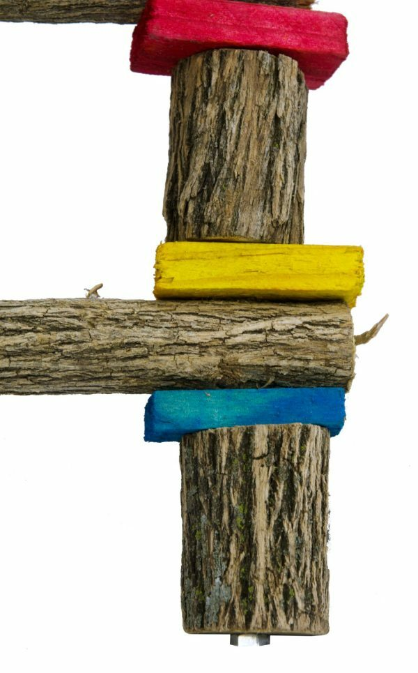Birrdeeez Parrot Bridge Ladder Wood & Chain