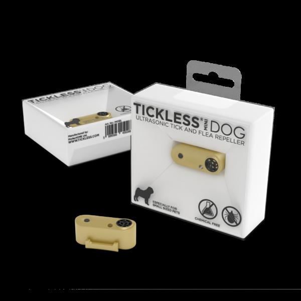 Tickless Mini Dog Goud oplaadbaar