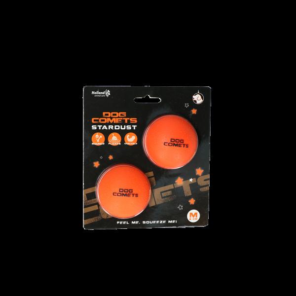 Dog Comets Ball Stardust Oranje M 2-pack
