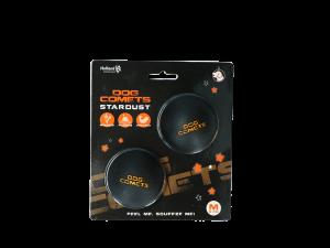 Dog Comets Ball Stardust Zwart Oranje M 2-pack